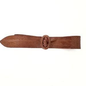 Vintage Brown Genuine Snake Skin Leather Belt S